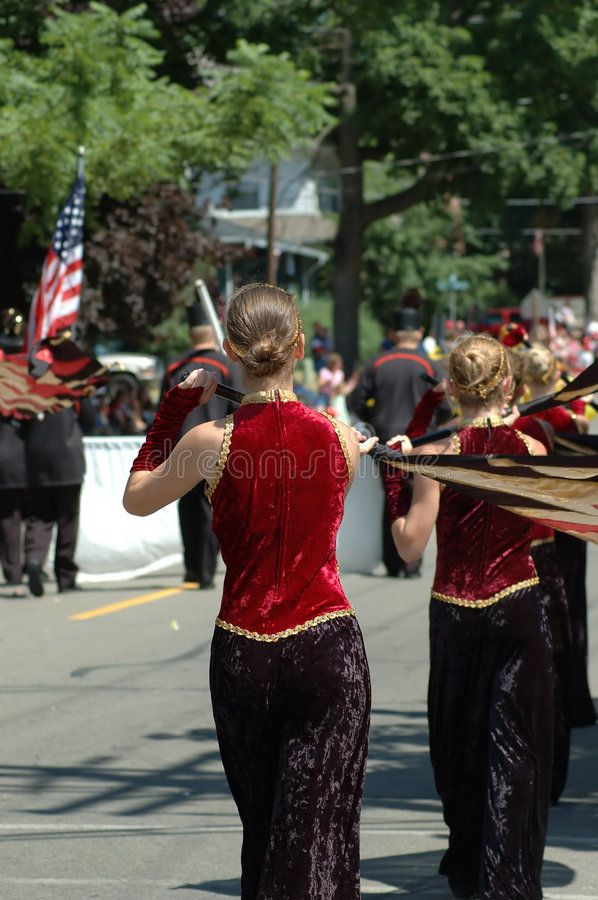 Download Color Guard Flaggers editorial stock photo. Image of routine - 163523