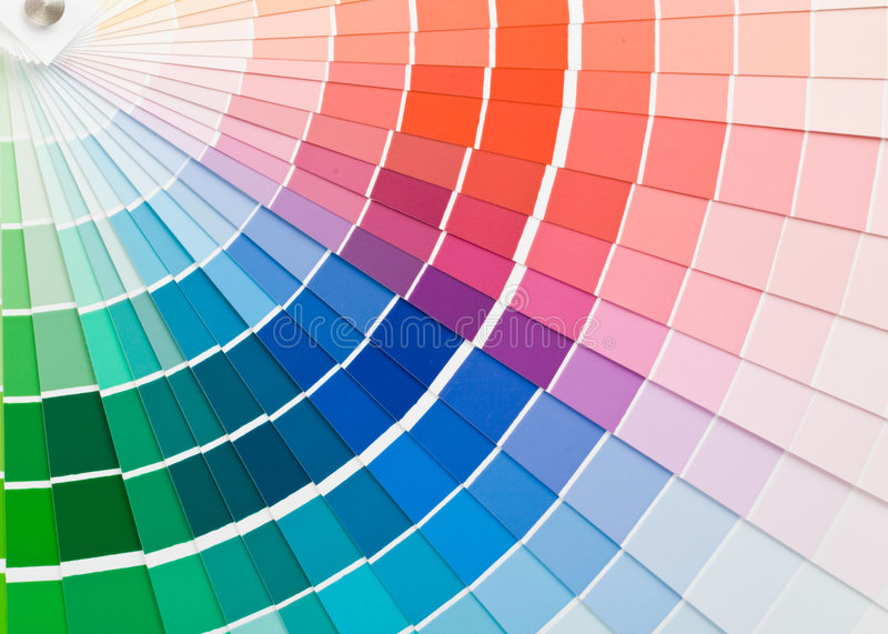 Color guide. royalty free stock photos