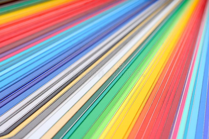 Color guide close-up royalty free stock photos
