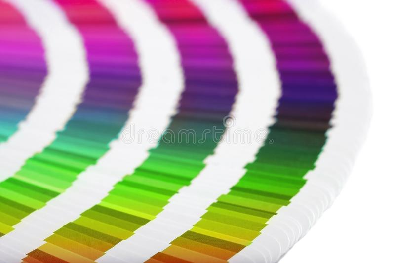 Color guide close-up stock image