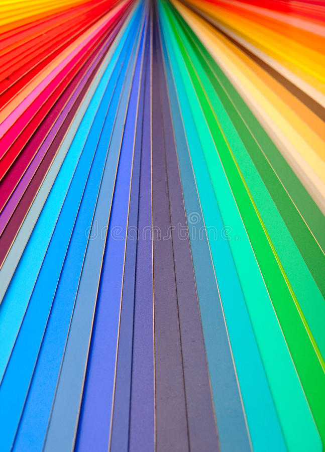 Color guide closeup royalty free stock images