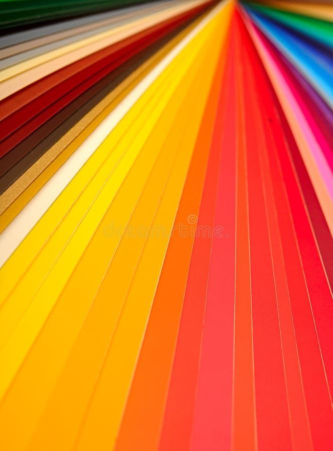 Color guide closeup stock photos