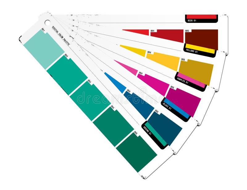 Color Guide Green stock illustration