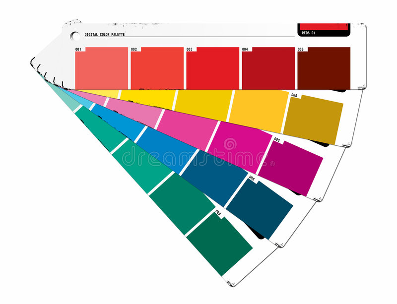 Color Guide Red stock images