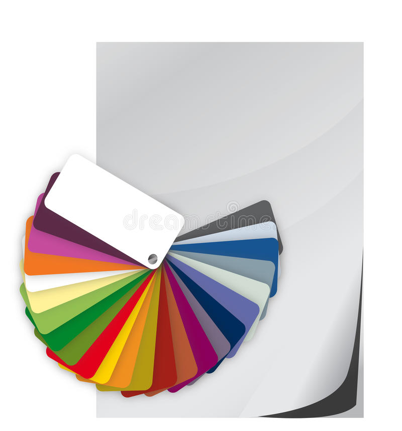Download Color Guide Spectrum Swatch And Blank Paper Stock Illustration - Image: 29107809