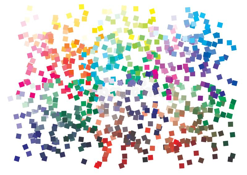 Vector color palette on A4 format. Details chaotically scattered vector illustration