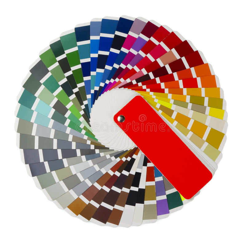 Color guide royalty free stock photo