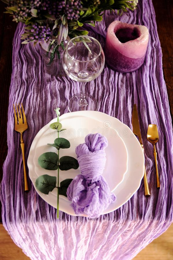Free Color Hand Dyed Organic Cheese Cloth Runner Royalty Free Stock Photo - 141602075