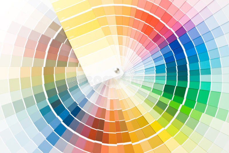 color handboken royaltyfri bild