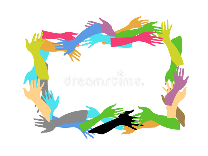 Download Color hands frame stock vector. Image of help, frame - 14671585