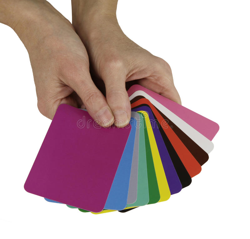 Color Healing Cards royalty free stock image