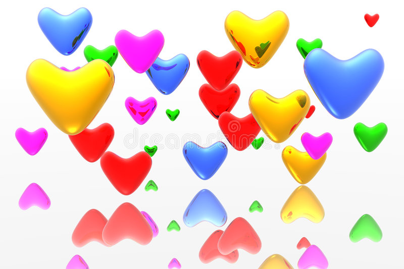 Color Hearts Background Royalty Free Stock Photo