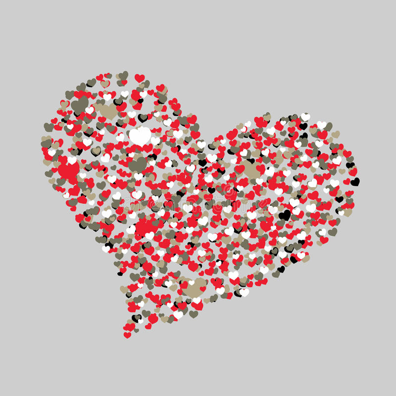 Color Hearts. Happy Valentine\'s Day Background. Abstract ...