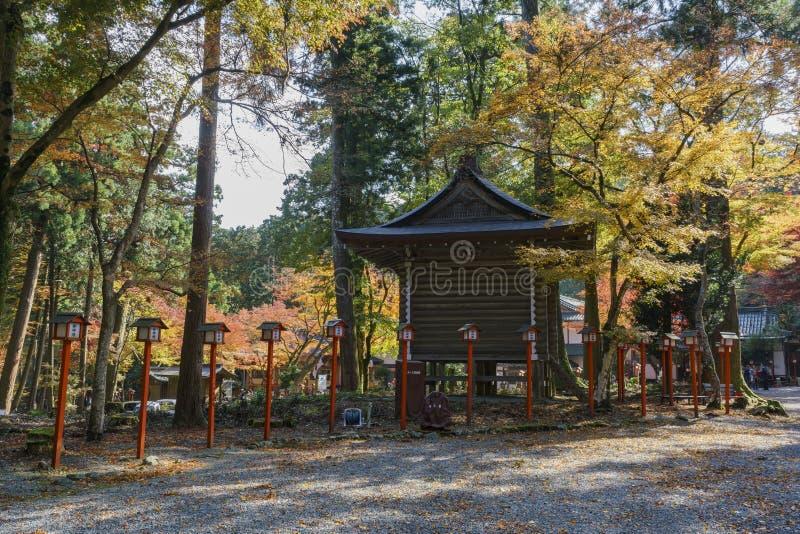 Color hermoso de la caída de Hiyoshi Taisha imagen de archivo libre de regalías