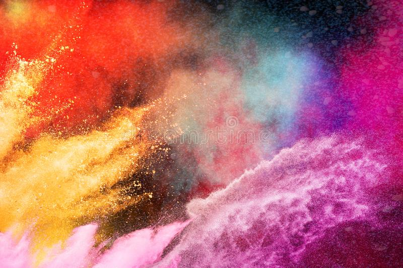Color Holi Festival. Colorful explosion for Happy Holi powder. stock images