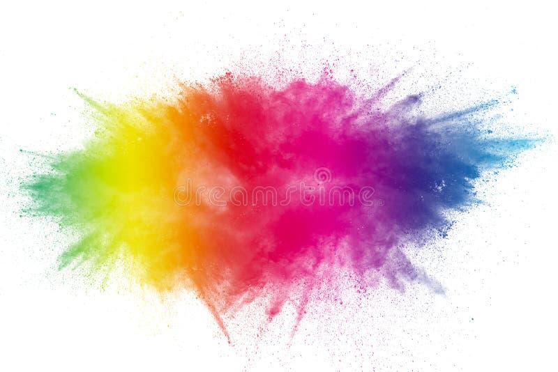 Color Holi Festival. Colorful explosion for Happy Holi powder. stock photo