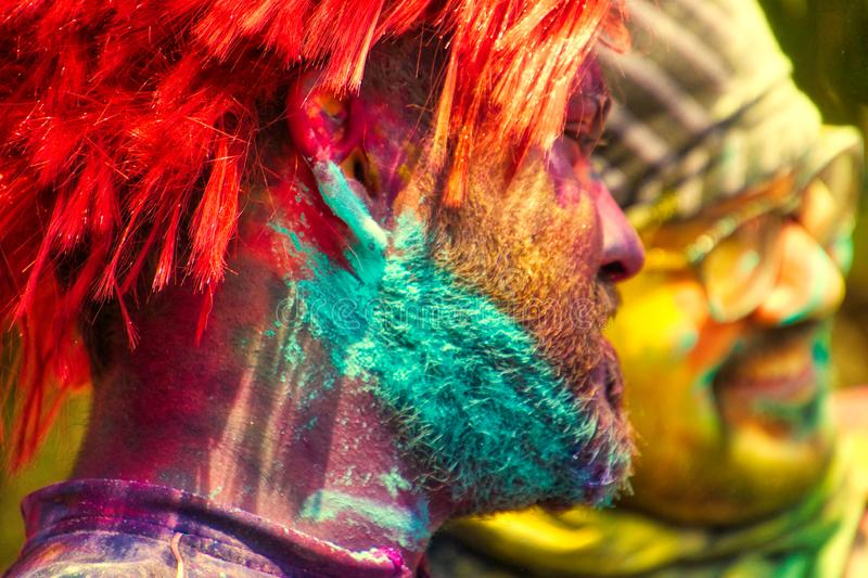 Color of Holi royalty free stock image
