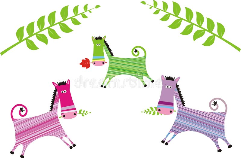 Download Color horses stock illustration. Image of animals, wildlife - 7766553