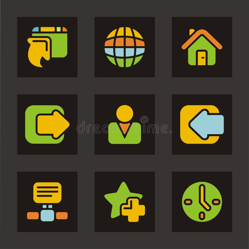 Download Color Icon Series - Basic Icons Stock Vector - Image: 1979657
