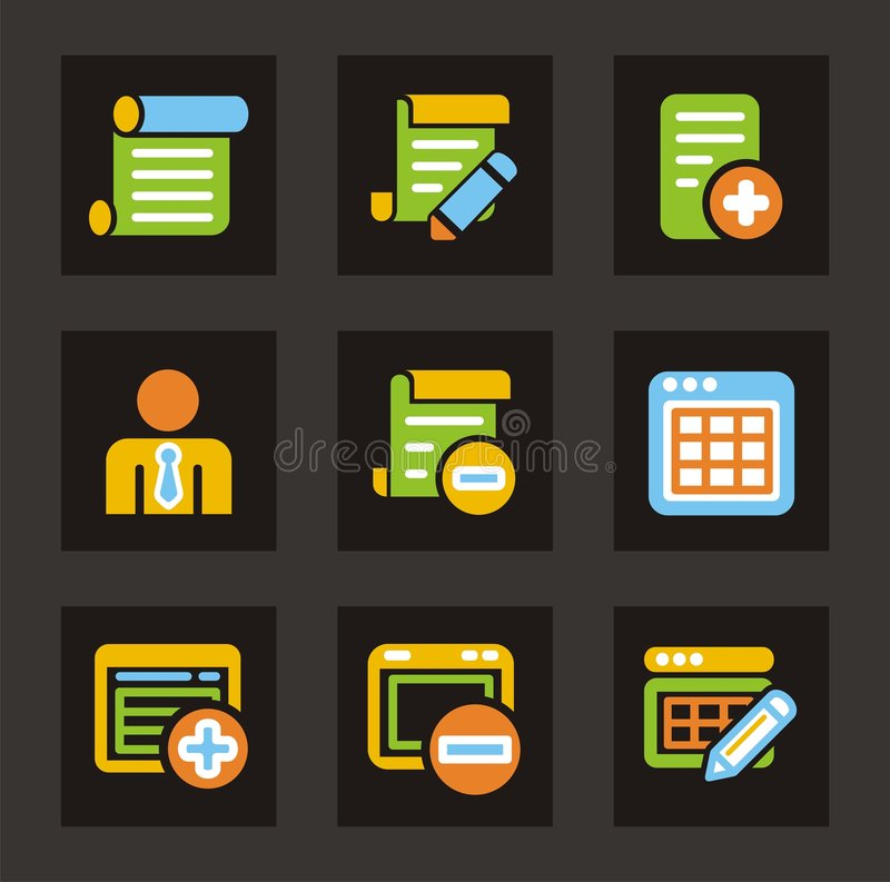 Download Color Icon Series - Database Icons Stock Image - Image: 2036321