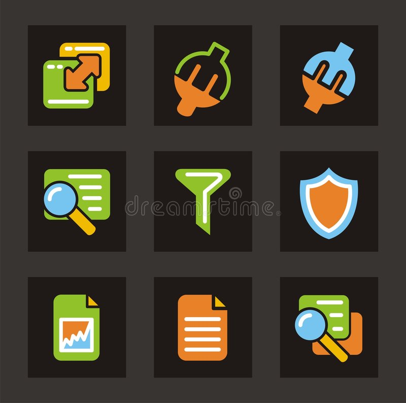 Download Color Icon Series - Database Icons Stock Illustration - Image: 2036322