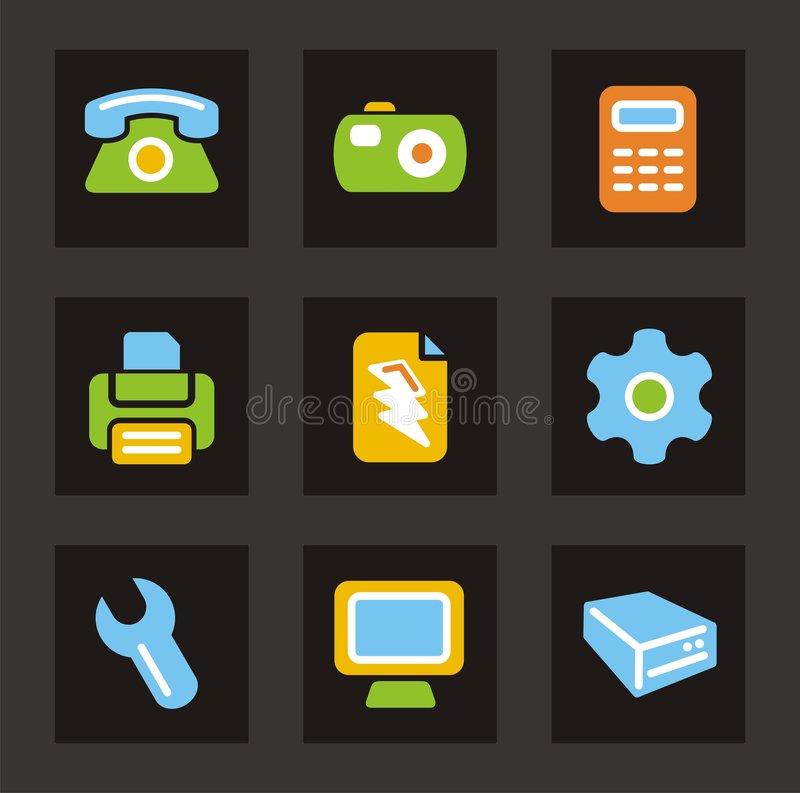 Download Color Icon Series - General Icons Stock Illustration - Illustration: 2036312