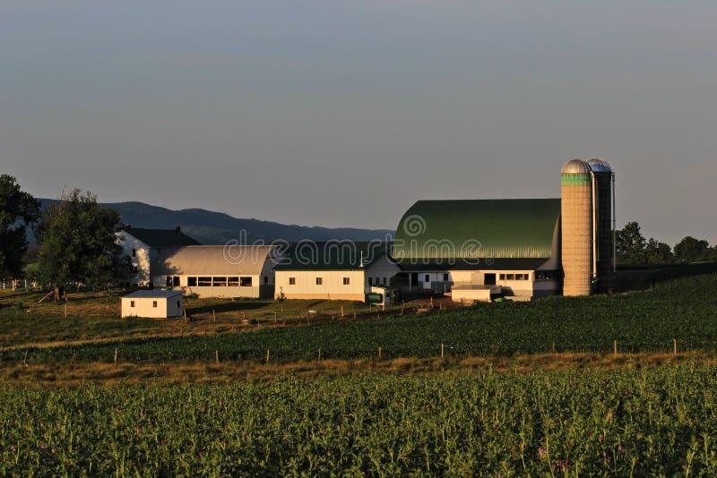 Pennsylvania Amish Farm. A color image of a Amish farm near Belleville in  Mifflin County Pennsylvania stock photography