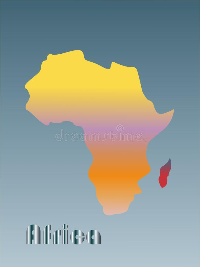 Color image of continent Africa Vector illustration. For design royalty free illustration