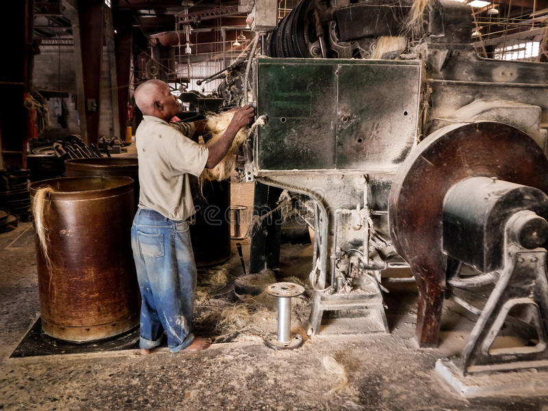 Color Image Tinsel Twine Factory Port-Au-Prince Haiti. This is a color image of a Historic Tinsel Twine Factory on Boulevard Toussaint Louverture in Port-Au stock photography