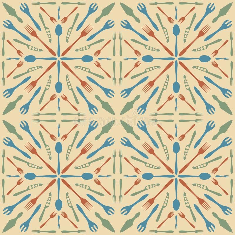 Color inconsútil del beige del modelo de los cubiertos libre illustration