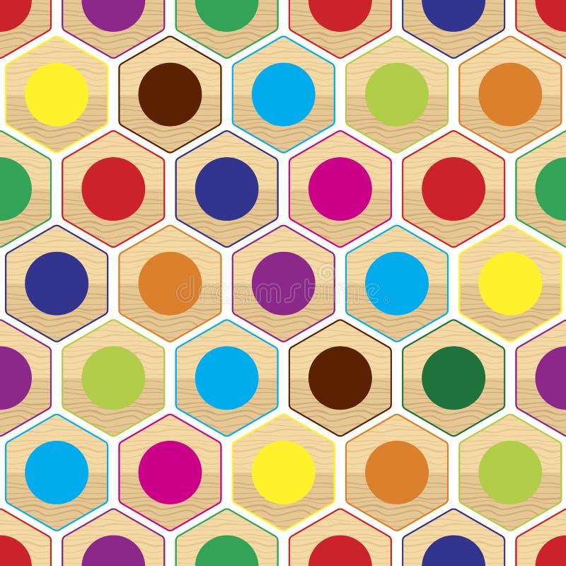 Download Color Inconsútil Ring Pattern Ilustración del Vector - Ilustración de negro, repetición: 41918574