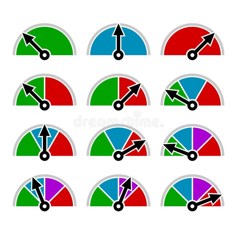 Color Indicator Diagram Set Template Design royalty free illustration