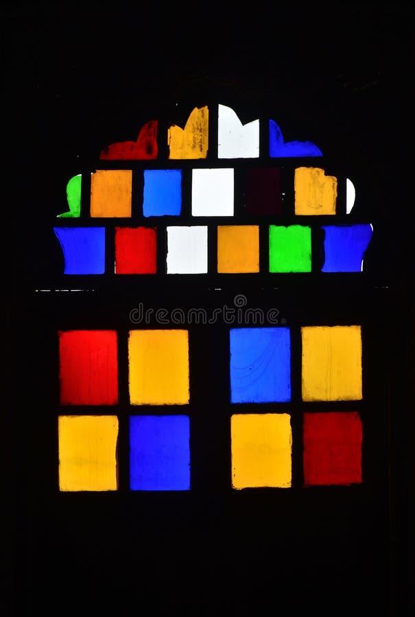 Color indio del vitral de la ventana del fuerte foto de archivo libre de regalías