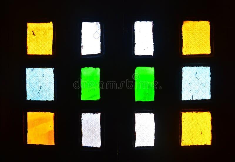 Color indio del vitral de la ventana del fuerte fotografía de archivo