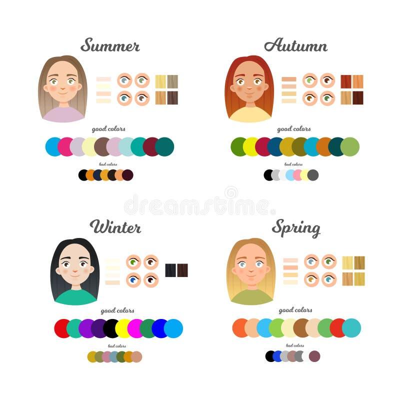 Color infographic stock de ilustración