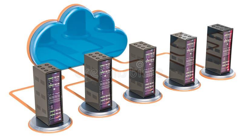 color internet för begreppsanslutningskontaktdonet markerade ut plugs routeren Datormoln med serverkuggar, 3 stock illustrationer
