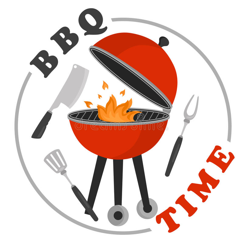 color invitation template for barbecue party for web and mobile