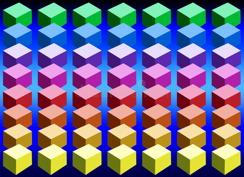 color kuber arkivfoto