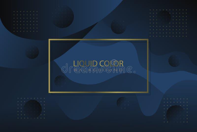 Color líquido de lujo como fondo ilustración del vector