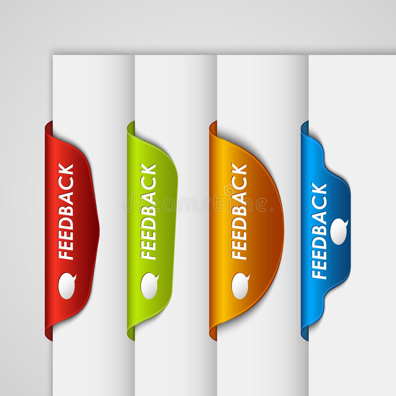 Download Color Label Bookmark Feedback On The Edge Of Web Page Stock Illustration - Image: 35770638