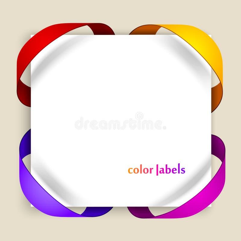 Download Color labels stock vector. Illustration of badge, sign - 24323499