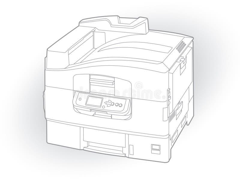 Color laser printer stock images