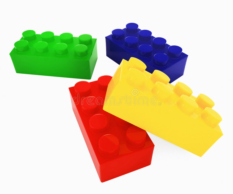 Color lego blocks royalty free illustration