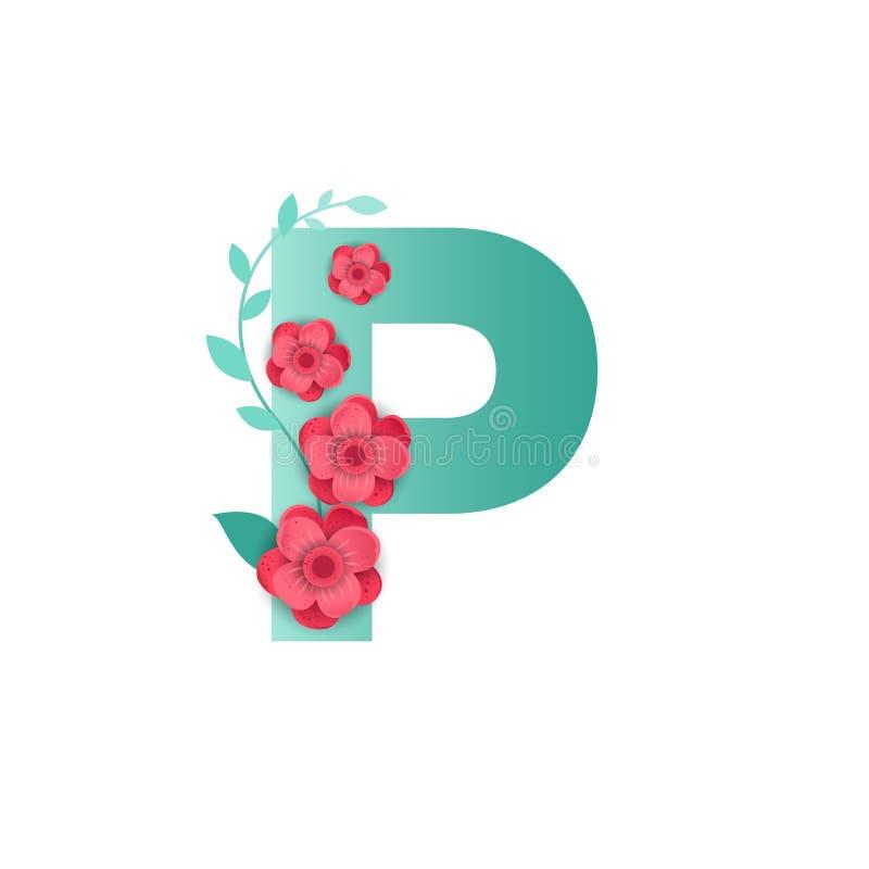 Letter P Flowers Stock Illustrations 210 Letter P