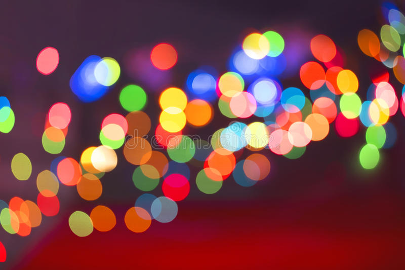 Color light blurred stock image