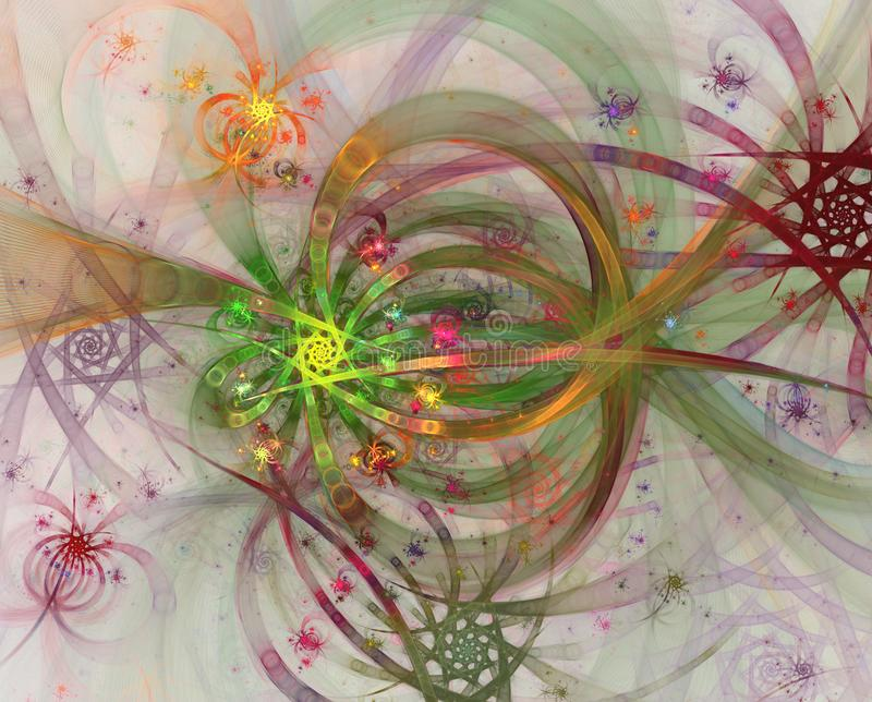 Color light effects. Abstract shine fireworks and wires. Fireworks. And celebration royalty free illustration