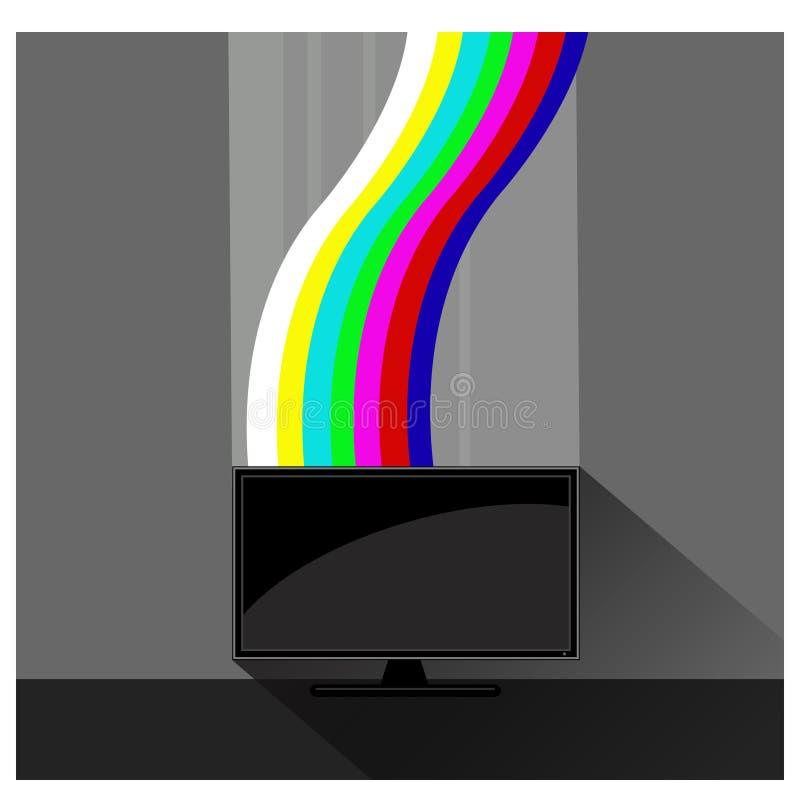 Color light of tv. Color bar stock illustration