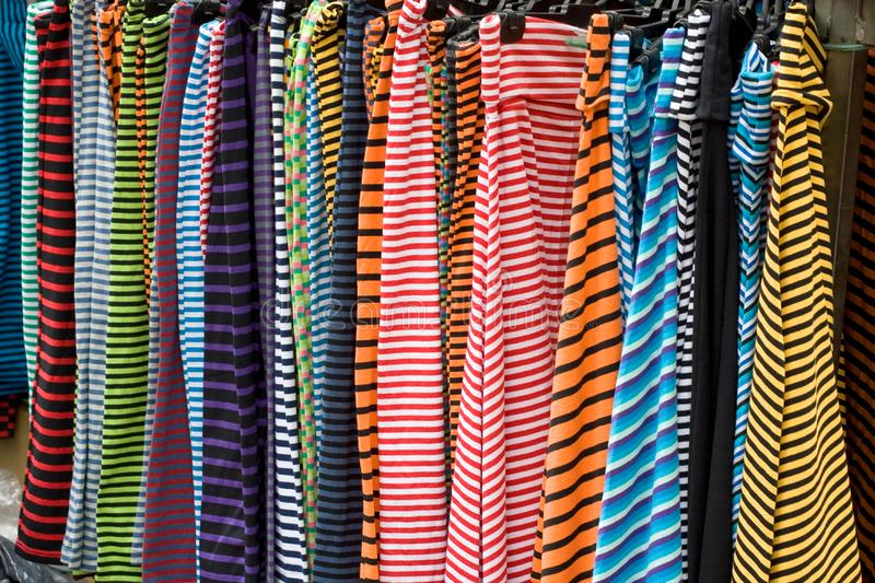 Color line clothes royalty free stock image