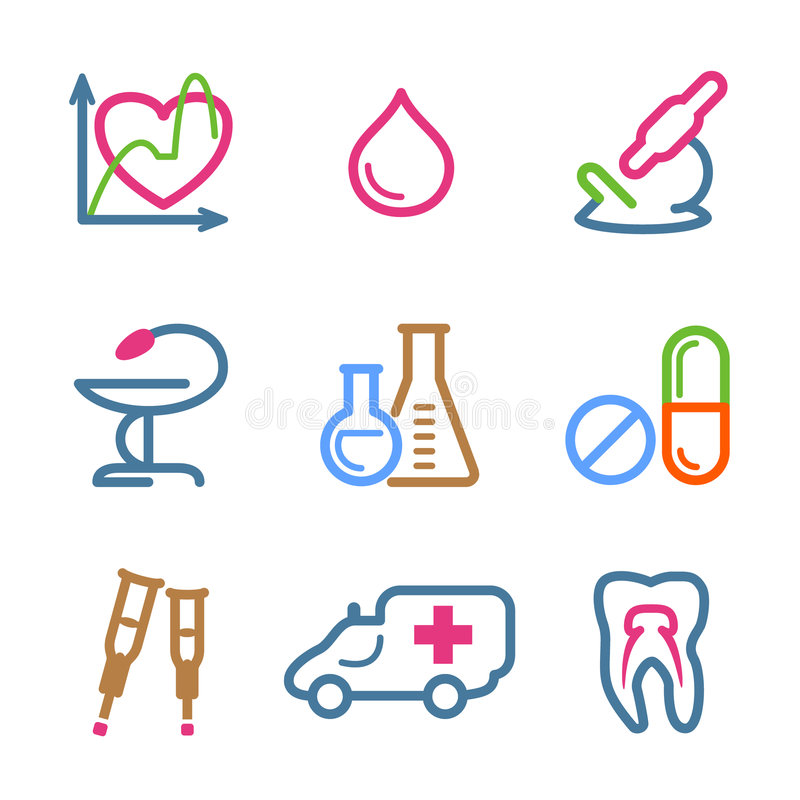Download Color line set 12 stock vector. Image of tooth, heart - 7446716