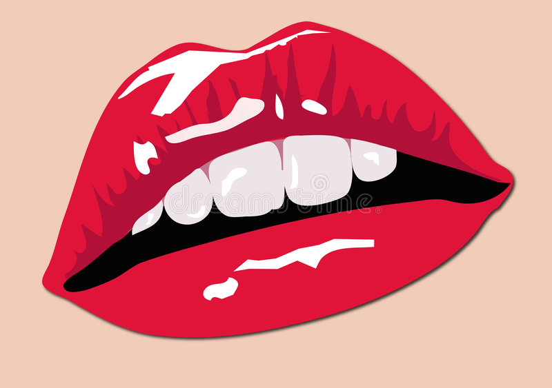 Download Color Lips stock illustration. Illustration of girl, tooth - 1692528